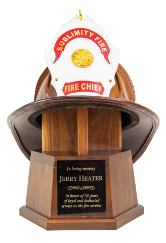 Fire Helmets Buckets and Bells | Cruise Master Engraving