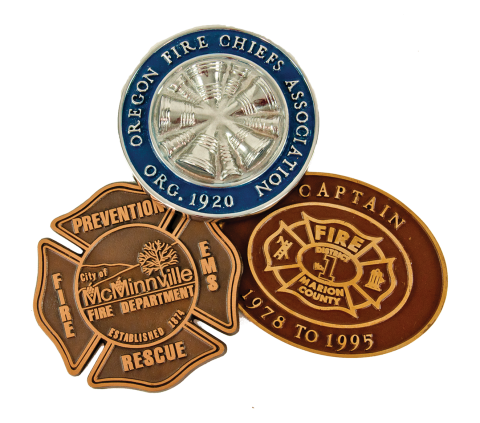 We can inset your department emblem or logo into a custom bronze casting to be used to dedicate buildings, recognize donors, mount on the headstone of a fallen firefighter, or anywhere lasting recognition is desired.