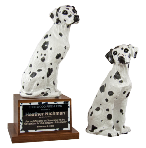 A Cruise Master Exclusive; expressive Dalmatian figurine reminiscent of the loyal companions of the fire service.