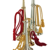 "17"" Brass, 18"" Pewter, 9"" Brass Mini, 8"" Pewter Mini Trumpets available."